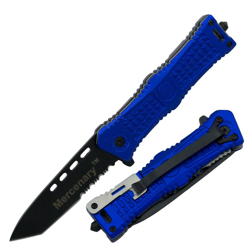 Mercenary Special Operation Spring Assisted Knife, Blue