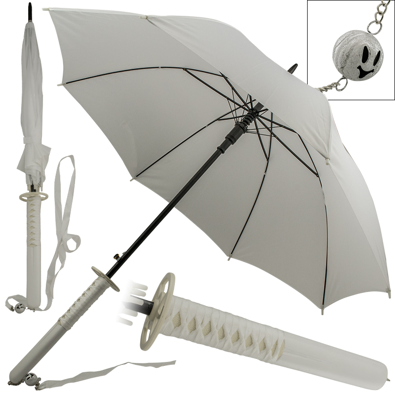 Novelty White Katana Umbrella Fantasy Sword
