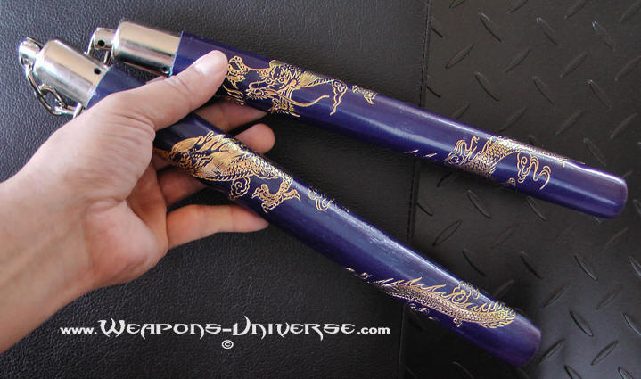 Rattan Dragon, Nunchuck, Blue