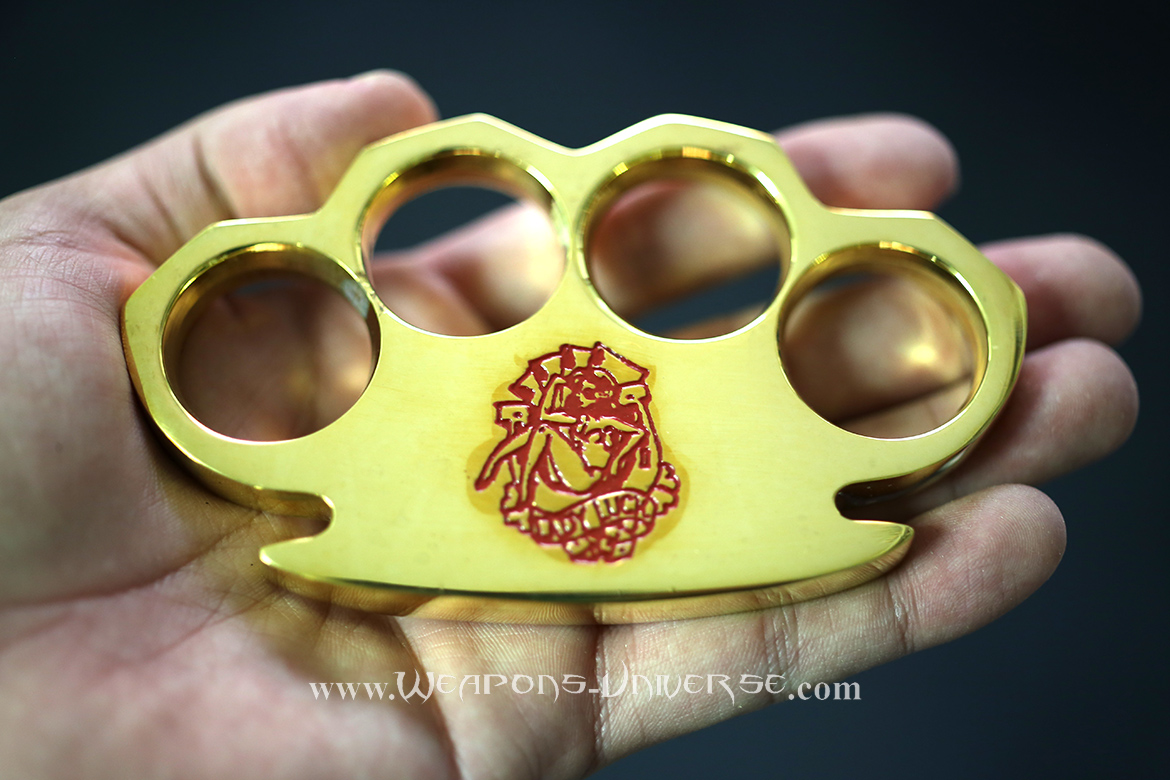 Real Brass Knuckles, Heavy Duty, Lady Luck, Red