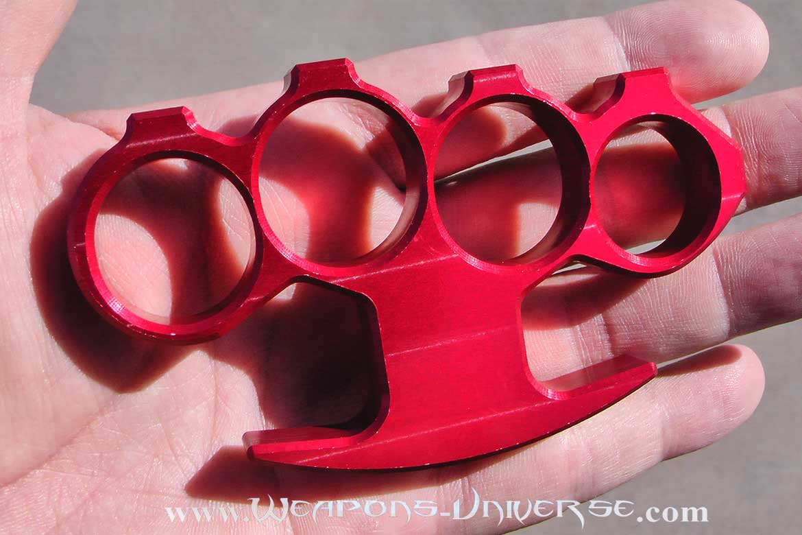 Rebel Brass Knuckles, USA, Red, Large