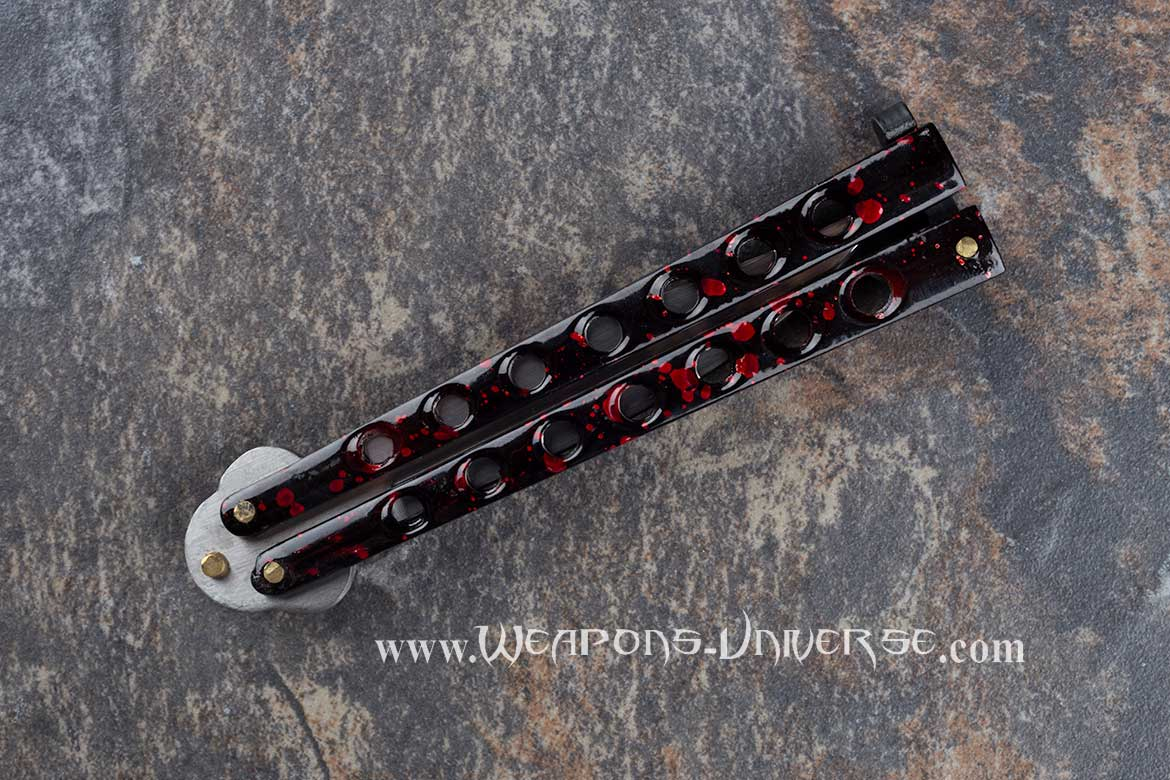 Red Balisong Butterfly Knife