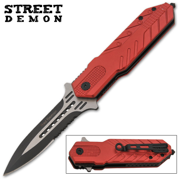 Red Demon Spring Assisted Knife