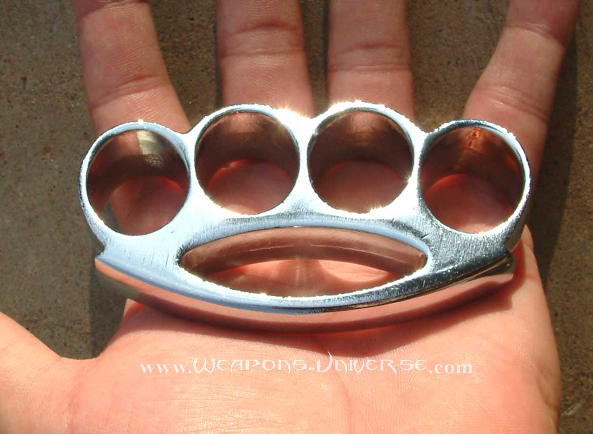 Renegade Brass Knuckles, Chrome, Medium