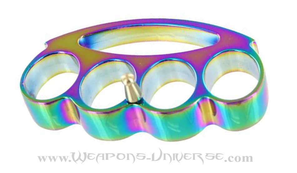 Renegade Brass Knuckles, Rainbow, Large