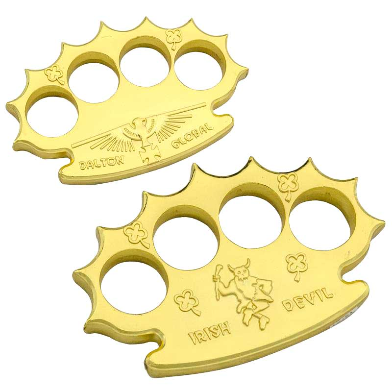 Robbie Dalton Irish Devil Gold Brass Knuckles