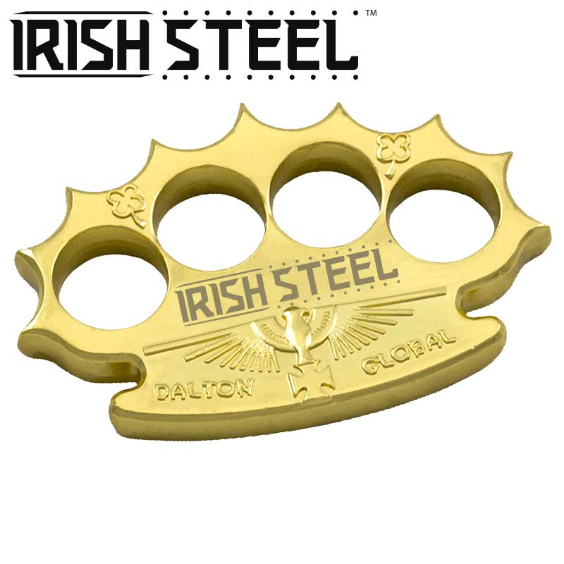 Robbie Dalton Irish Steel Brass Knuckles, Gold