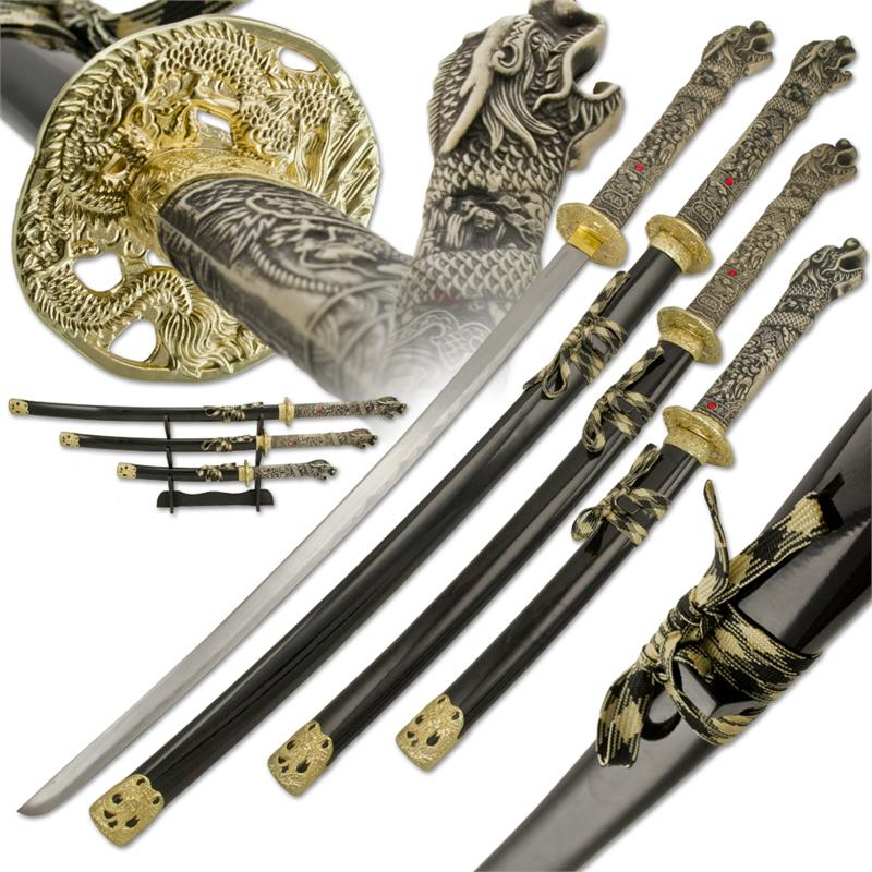 Samurai Dragon Katana Sword Set