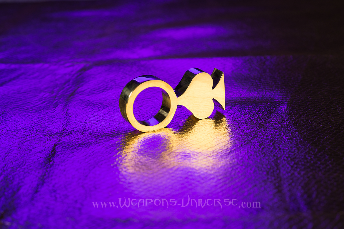 Spade Two Finger Brass Knuckles