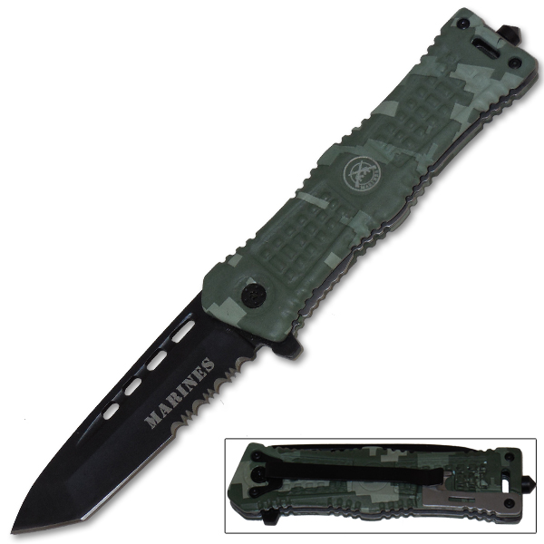 Military Guns For Sale Cheap >> Military Special Operation Trigger Assist Knife - Digital Camo [Marines]