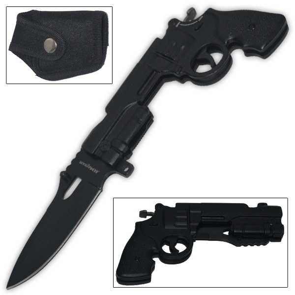 Trigger Assisted .44 Mag Pistol Knife (Black) GK-44-BK