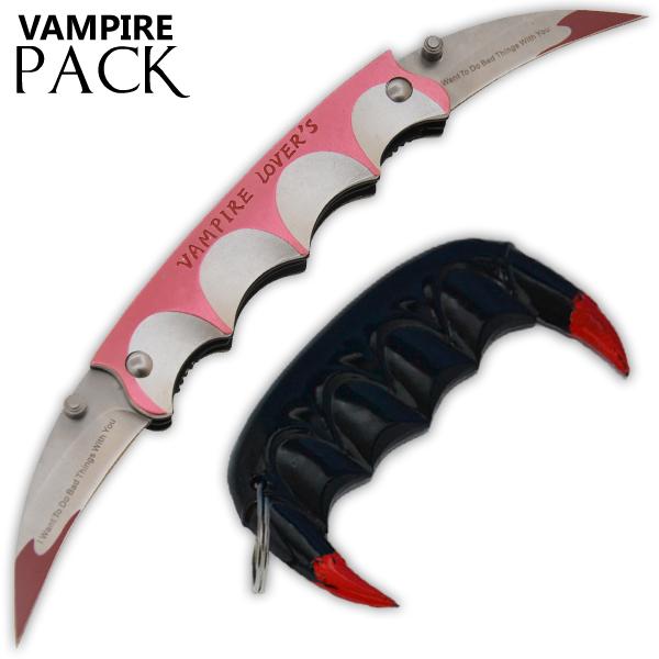 Vampire Slayer Teeth Self Defense Keychain Vampire Lovers Knife
