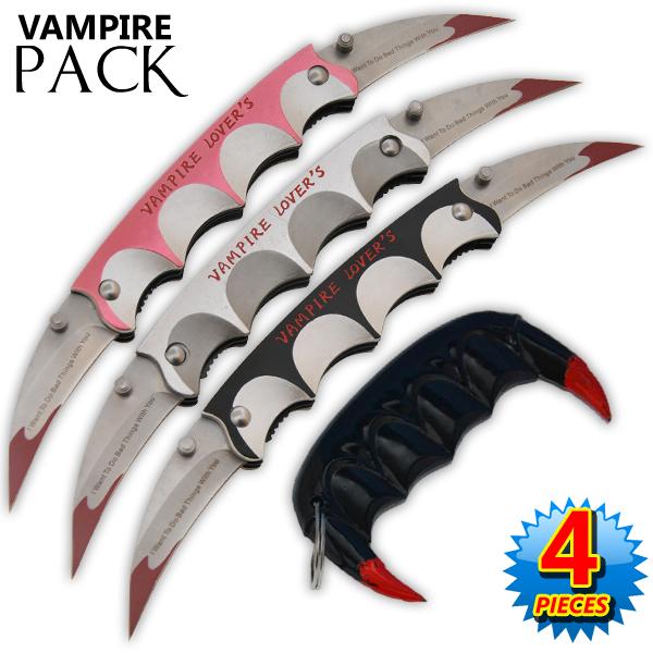 Vampire Slayer Teeth Self Defense Keychain Vampire Lovers Set Knife