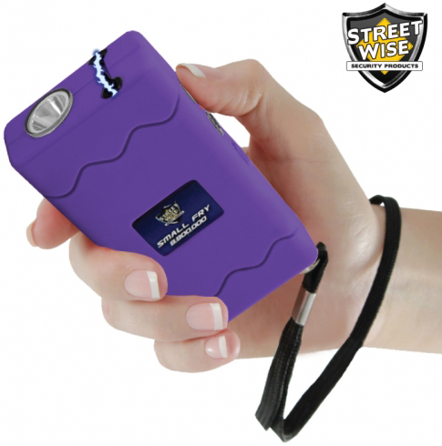 Streetwise Small Fry Stun Gun 8,800,000 Volts, Rechargeable, Purple, #SWSF8800PR