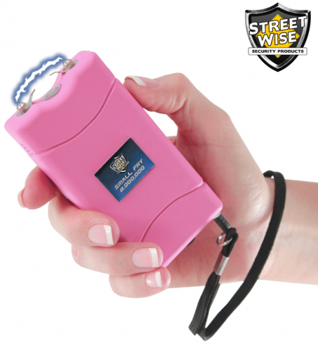 Small Fry Stun Gun 8,000,000 Volts, Rechargeable, Pink, Streetwise SF8000RP