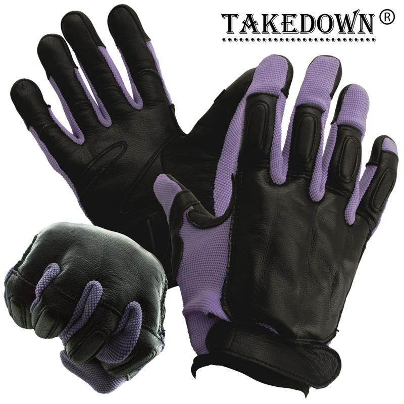 Tactical SAP Gloves, Purple, Large