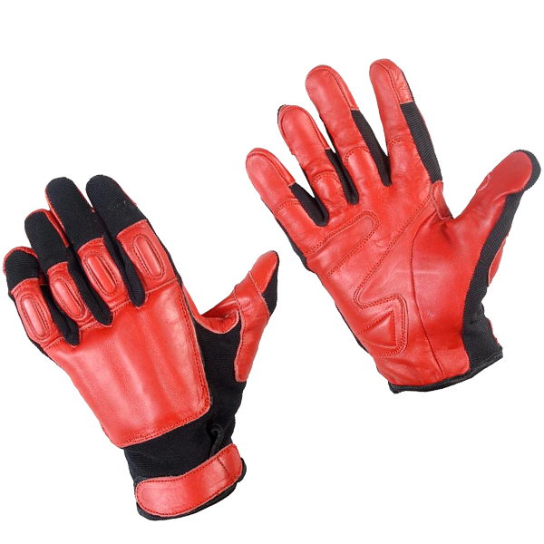 Tactical SAP Gloves, Red, Large