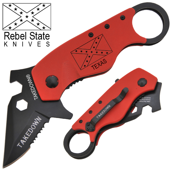 Texas Rebel State Knives Spring Assisted Knife