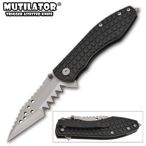 The Mutilator II - Spring Assisted Knife, Black