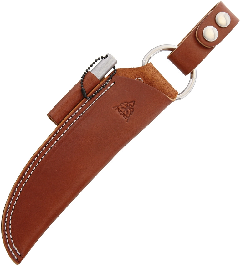 TOPS SHLBUSHBRN Bushcraft Sheath Brown Leather