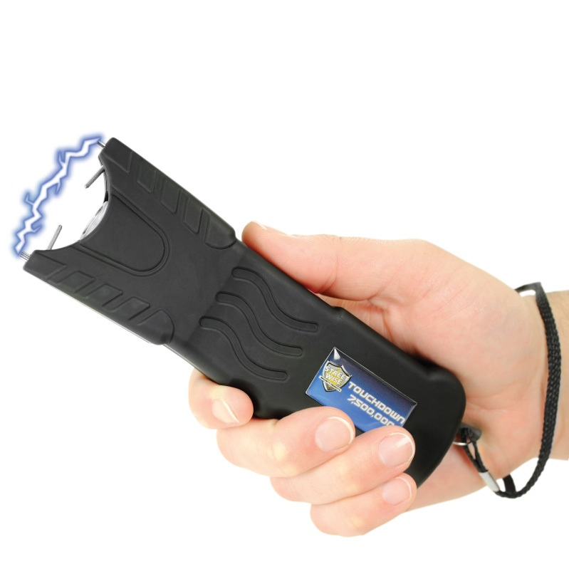 Touchdown Stun Gun, 7,500,000 Volts, Rechargeable, Black