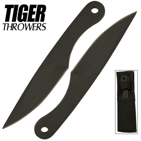 Two 6 Inch Tiger Throwing Knives- Black- 2