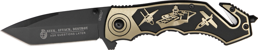 United Cutlery UC2708 Seek Attack Destroy Folder Knife
