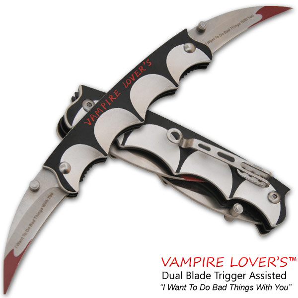 Vampire Lover's Spring Assisted Dual Knife