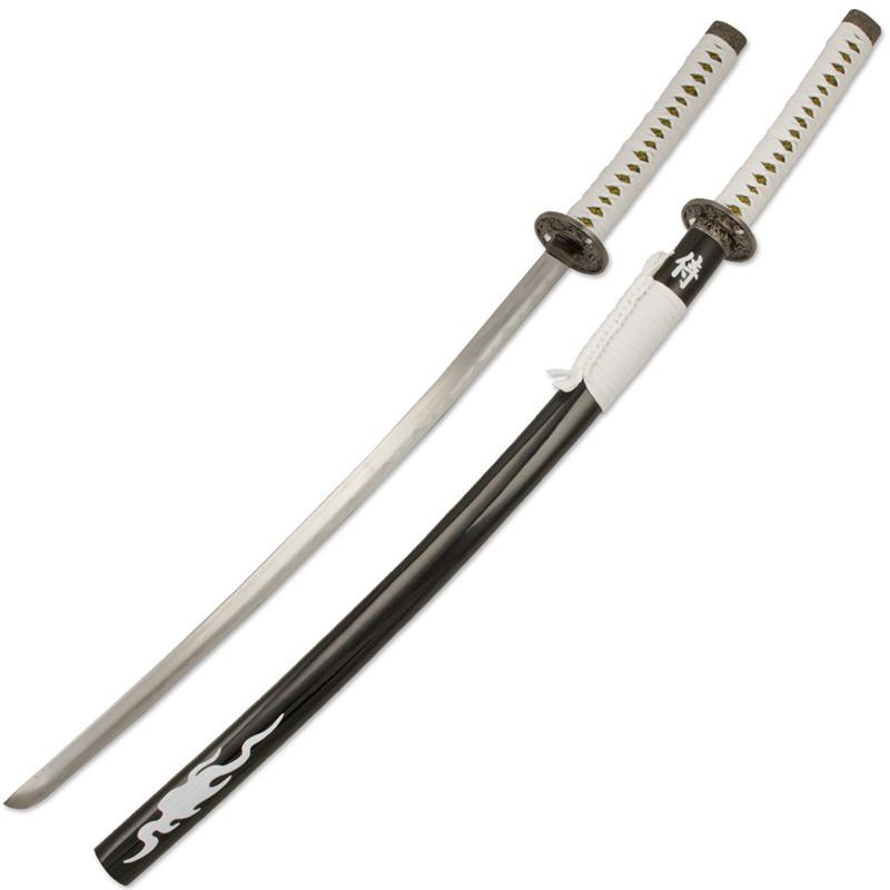 you are here we... Japanese Katana Sword White