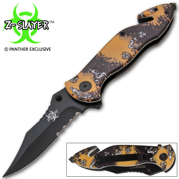 Z-Slayer Undead Gasher Spring Assisted Walking Cryptoid Knife