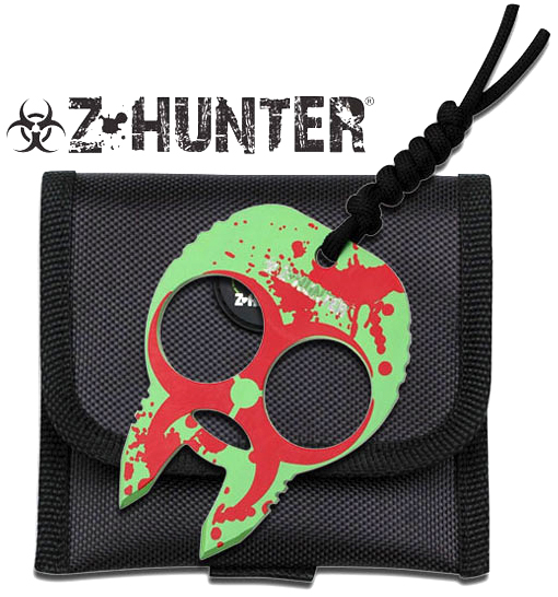 Zombie Hunter 2-Finger Brass Knuckles, Red
