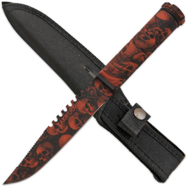 Survival Knife w/ Skull