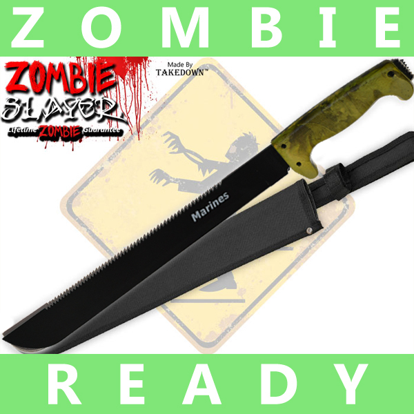 Full Tang Undead Slayer Machete - Yellow Camo AP0005CM2/MA