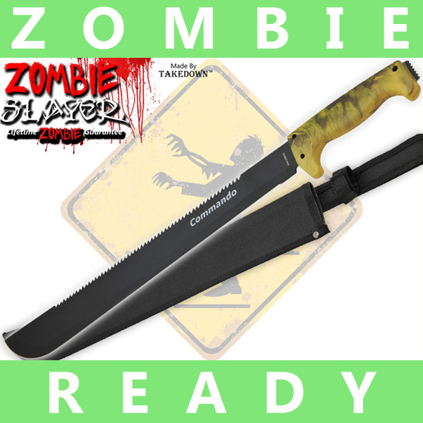 Full Tang Undead Slayer Machete - Yellow Camo AP0005CM2/CO